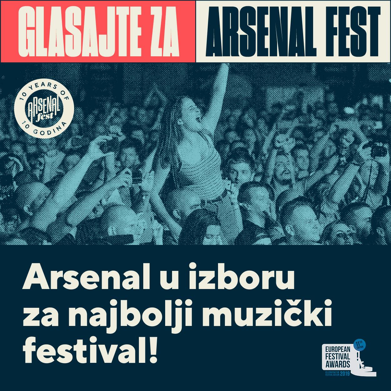 Arsenal u konkurenciji za European Festival Awards!