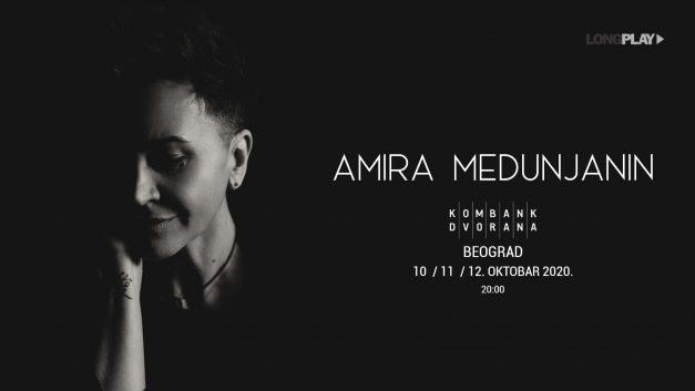 Amira Medunjanin 10, 11, 12. oktobra u Kombank dvorani