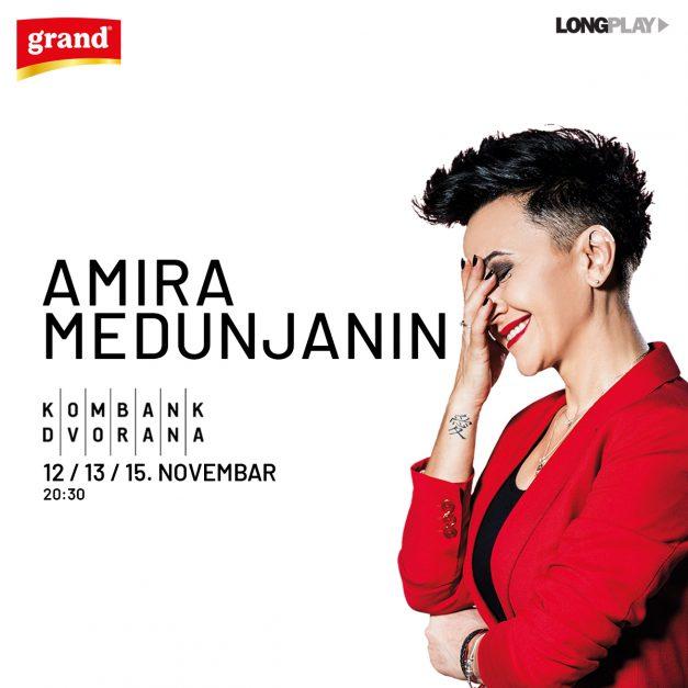 Amira Medunjanin 12, 13. i 15. novembra u Kombank dvorani
